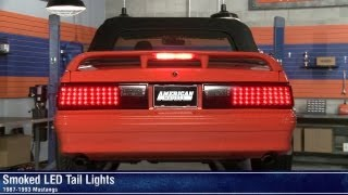 Download Mustang Smoked LED Tail Lights (87-93 All) Review Video