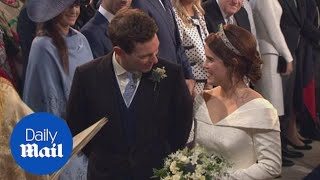 Download Princess Eugenie and Jack Brooksbank tie the knot at Windsor Castle Video