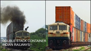 Download Tallest FREIGHT Train of Indian Railways! EMD Hauled Massive Double Stack Containers in Rajasthan Video