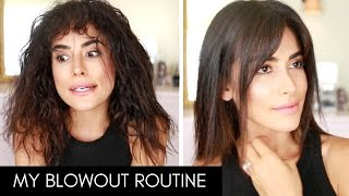 Download How I Blow Dry & Style My Hair with BANGS!   Wet to Dry Video