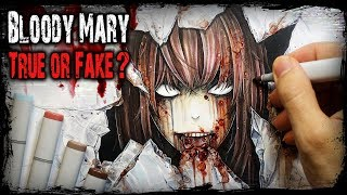 Download The True Story Behind ″Bloody Mary″ - Creepypasta + Horror Drawing Video