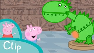 Download Peppa Pig - George visits the dinosaur museum (clip) Video