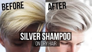 Download How to use Silver Shampoo on Dry Hair Thomas Davenport Inspired | Men's Hair 2017 Summer | Video