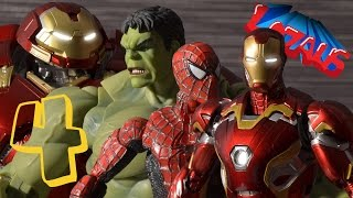 Download IRONMAN STOP MOTION Part 4 with SPIDERMAN HULK & HULKBUSTER Video