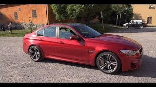 Download [4k] F80 BMW M3 Sedan 2014 in everyday traffic through Stockholm and GRIP problems Video