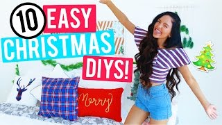 Download 10 Easy Christmas Room Decor DIYs 2016! Cheap and Easy Holiday Room Decorations! Video