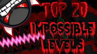 Download Top 20 Most Impossible Levels In Geometry Dash (Gameplays by ToshDeluxe) Video