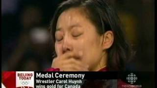 Download Canada National Anthem Played When Carol Huynh Received Gold Video
