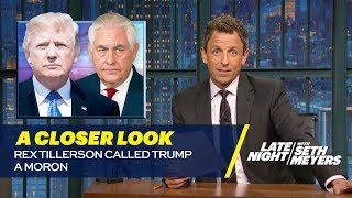 Download Rex Tillerson Called Trump a Moron: A Closer Look Video