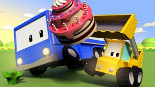Download The Party - Tiny Trucks for Kids with Street Vehicles Bulldozer, Excavator & Crane Video