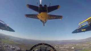 Download Cockpit video of Blue Angels Super Bowl 50 Flyover Video