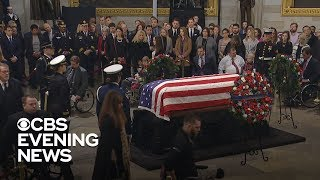 Download Bob Dole stands to deliver unforgettable salute to George H.W. Bush Video