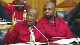 Download Julius Malema Telling Committee On Land Reform What EFF Wants! Video
