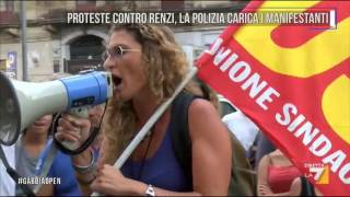 Download Proteste contro Renzi, la polizia carica i manifestanti Video