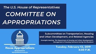 Download Oversight Hearing: HUD's Management of Housing Contracts During the Shutdown (EventID=108881) Video