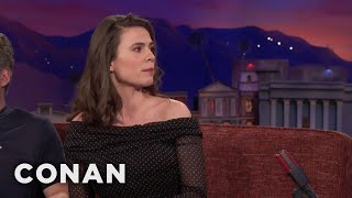 Download Hayley Atwell Compares Talk Show Appearances To Blind Dates - CONAN on TBS Video