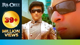 Download Rajinikanth 'Chitti' met Shah Rukh Khan 'G.One' | RA.One | Movie Scene Video