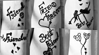 Download ❤Friendship day speical tattoo mehndi design ❤|| BEST FRIEND || dolly arts|| Video