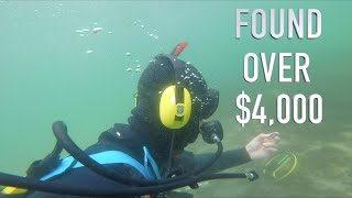 Download Found $5,000 Buried Treasure (NO POLICE ASSISTANCE) Underwater Metal Detecting GOLD!! Video