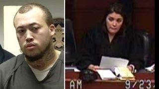 Download Triple homicide suspect threatens judge in court Video
