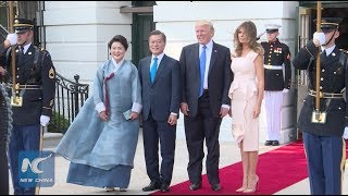 Download U.S. President Donald Trump hosts S. Korean counterpart Moon Jae-in at White House Video