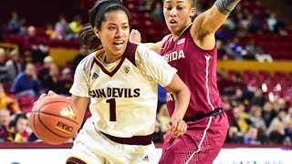 Download Highlights: No. 22 Arizona State women's basketball tops No. 10 Florida State in Tempe Video