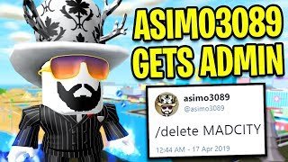 Download ASIMO3089 Gets ADMIN POWERS In MAD CITY... | Roblox Mad City Video