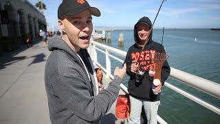 Download Getting a game-used bat at AT&T Park! Video