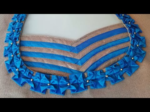 stitching of a beautiful back neck design of blouse step by step | fashion designing