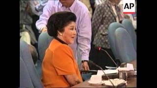 Download PHILIPPINES: IMELDA MARCOS SENATE HEARING Video