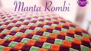 Download Tutorial Manta Rombi. Entrelac a crochet o ganchillo Video