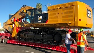 Download Moving the massive Cat 390F excavator from Conexpo Video