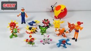 Download Bộ đồ chơi bắt Pokemon có quả cầu PokeBall và Pikachu toy for kids Video
