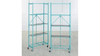 Download Origami 2pack of 5Tier Pantry Racks with Wooden Shelves Video