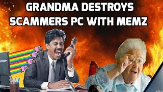 Download Grandma Destroys A Scammers Computer Video
