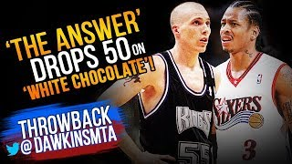 Download Allen Iverson Drops 50 On 'White Chocolate' Jason Williams & Kings - 2000.02.06 - AI With 50-9-6! Video