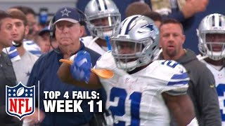 Download Top 4 Fails (Week 11) | Shek Report | NFL Video