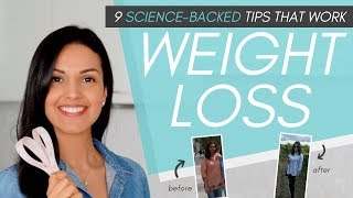 Download WEIGHT LOSS TIPS // 9 science-backed tips to lose weight + keep it off Video