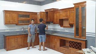 Download Tủ bếp gỗ xoan chun hàng vip giá rẻ ai cần liên hệ 0961238175 Video