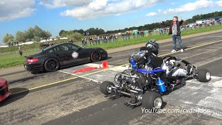 Download 230HP Super Kart vs. 1300HP Porsche 9ff vs. 1088HP AUDI S4 Video
