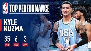 Download Kyle Kuzma Wins Mountain Dew Ice Rising Stars Game MVP | 2019 NBA All-Star Video