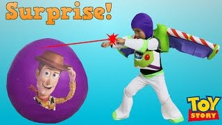 Download Disney Toy Story Super Giant Surprise Egg Toys Unboxing Buzz Lightyear Woody Jessie Ckn Toys Video
