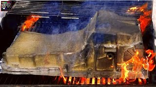Download BURN IT WITH FIRE! BBQ Oil Pan Anyone? + Engine Paint Reveal | Blue Ghost S-10 Turbo Build Video