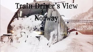 Download Train Driver's View: Winter on the Flåm Line Video