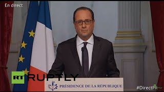 Download LIVE: French president François Hollande to speak on shooting in Paris Video