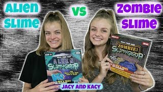 Download Alien Slime vs Zombie Slime ~ Save or Spend ~ Jacy and Kacy Video