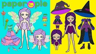 Download Paper Dolls Dress Up   Fairy & Witch Dresses   Mother & Daughters   Handmade Quiet Book Video