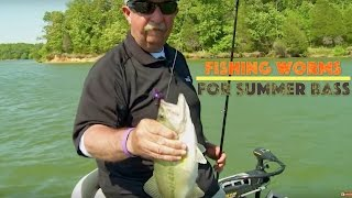 Download Fishing a Big 10-Inch Worm for Summer Bass Video