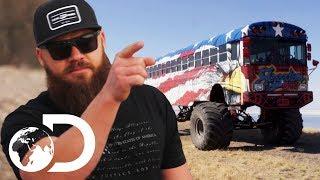 Download School Bus Gets Huge Monster Truck Wheels! | Diesel Brothers Video