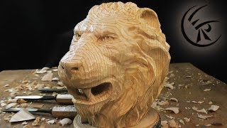 Download Woodcarving ″Lion head″ ►► Timelapse Video